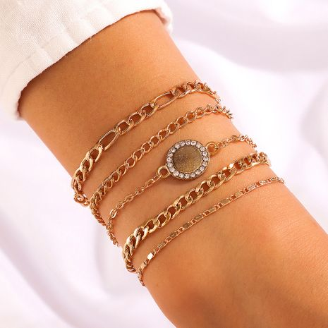 new circle chain punk style 5-piece bracelet set NHGY268538's discount tags