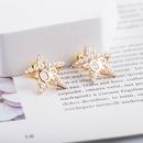 Nouvelle boucle oreille perle populaire corenne toile  cinq branches NHQS268546