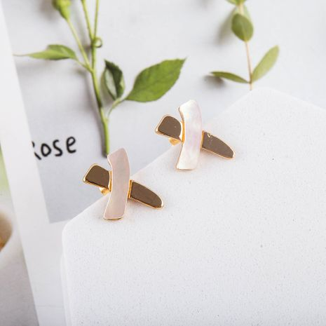 New popular Korean S925 silver needle natural shell fashion earrings NHQS268549's discount tags