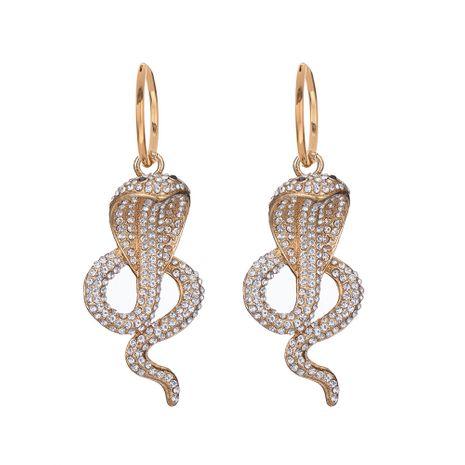 pendientes de cobra de diamante serpiente exagerados vendedores calientes NHOA268551's discount tags