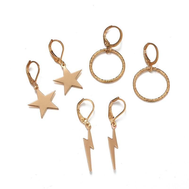 alloy geometric earrings  NHOA268555