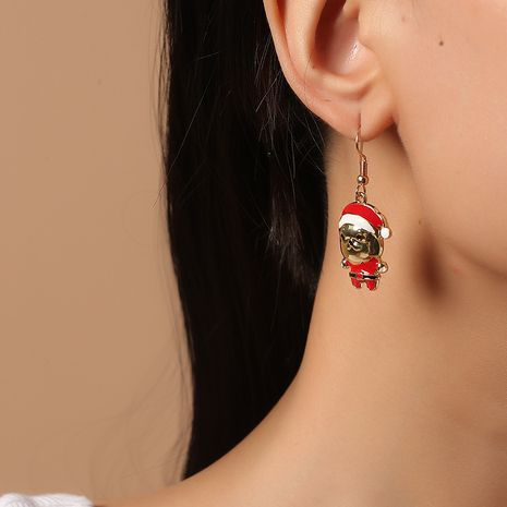 retro simple Santa starfish  snowman Christmas earrings  NHKQ268566's discount tags