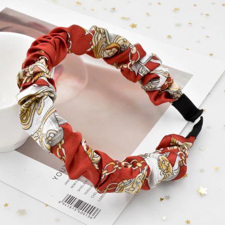 Bubble folds Bohemian chain  retro fabric  headband NHCL268602's discount tags