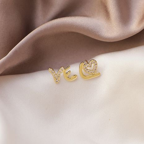 mini Love zircon 925 silver needle small and simple Korean sweet earrings  NHMS268620's discount tags