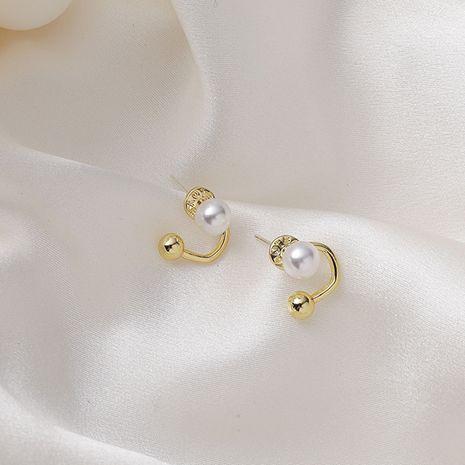 Simple multi-pierced fashion retro 925 silver needle baroque earrings NHMS268633's discount tags