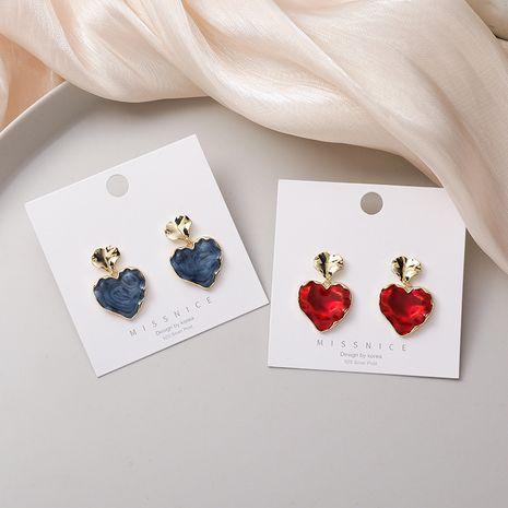 retro irregular heart-shaped simple earrings  NHMS268646's discount tags