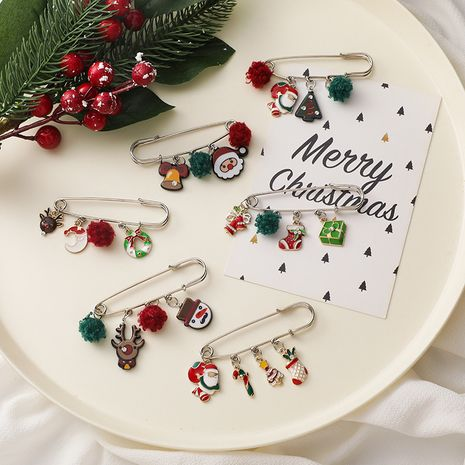 Christmas brooch cute anti-glare buckle waist artifact neckline pin NHMS268657's discount tags