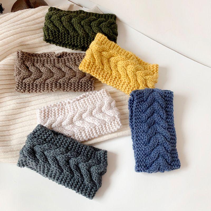 Bandeau rtro simple  larges bords en laine corenne NHDQ268660