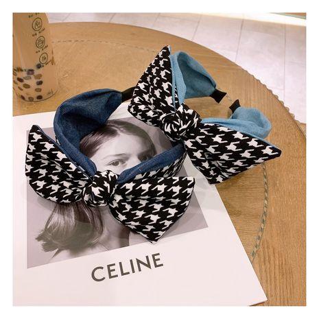 Korea  retro fashion color  bow wide headband  NHHD268673's discount tags