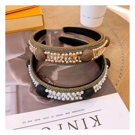 Bandeau en strass de luxe en cristal coréen NHHD268679's discount tags