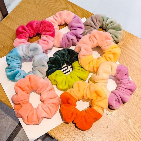 korean fashion  velvet hit color large hair scrunchies  NHNA268697's discount tags