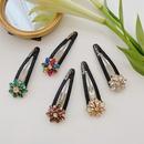 fashion  flower diamond hair clip  NHSM268241