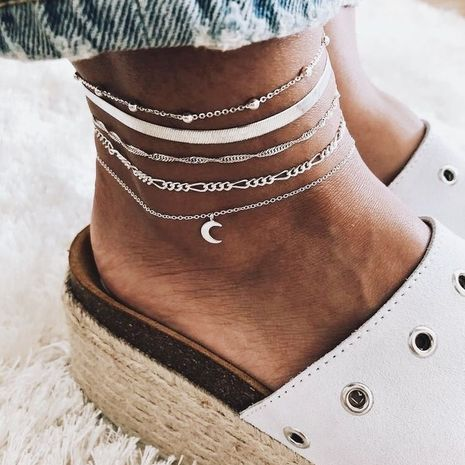 Women's New Popular Fashion Beach Moon Anklet Set  NHAJ268762's discount tags