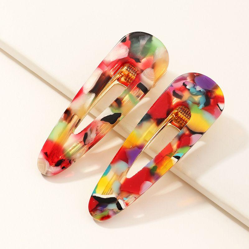colorful cute acetate hairpin all-match duckbill clips NHAU268770