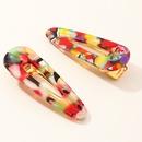 colorful cute acetate hairpin allmatch duckbill clips NHAU268770