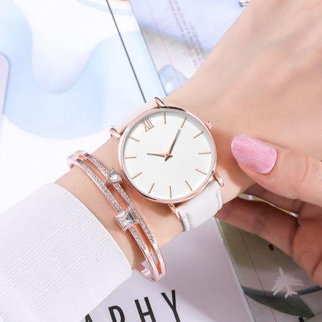 Reloj de cuarzo con esfera romana ultrafino de 2 agujas de moda coreana NHSS268773's discount tags