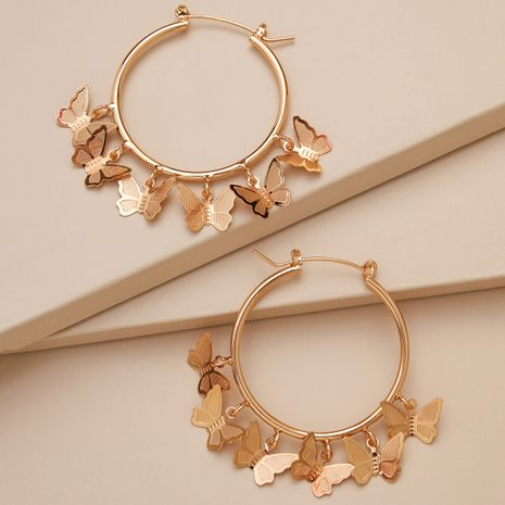elegant tassel golden five-pointed star butterfly star pendant earrings  NHLL268784's discount tags