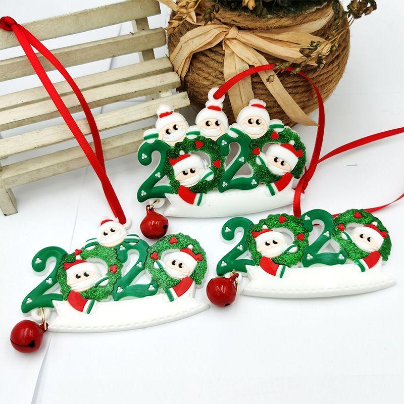 hot sale PVC soft mask Christmas Santa snowman pendant NHDI268790