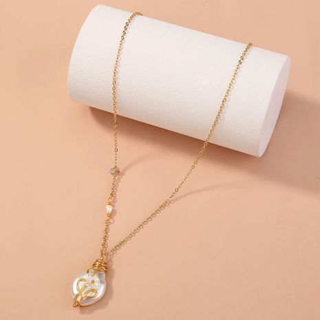 retro baroque pearl simple and versatile elegant Chinese style single-layer necklace NHAN268798's discount tags