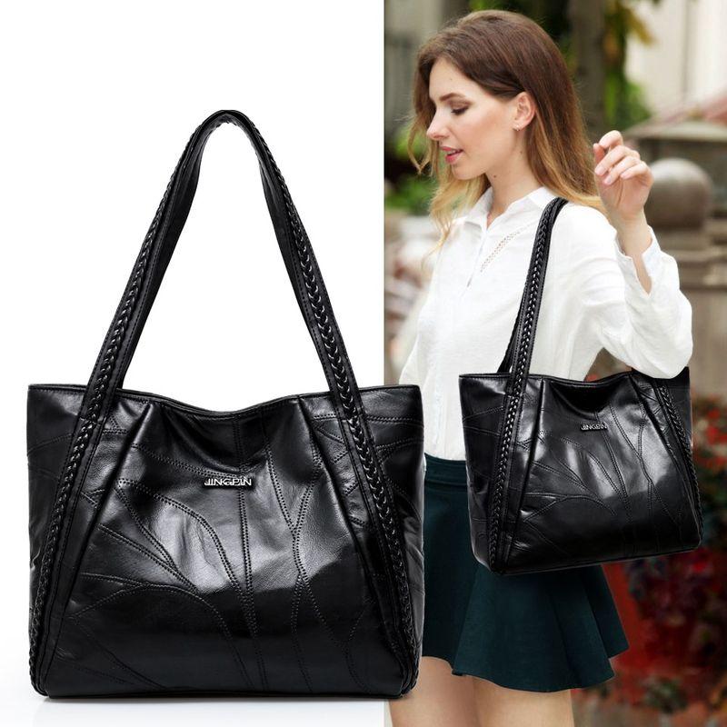 fashion sheepskin largecapacity oneshoulder handbags  NHRU268815