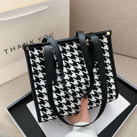 new trendy fashion all-match  simple casual one-shoulder tote bag NHRU268822's discount tags