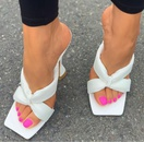 new womens square toe cross with wine glasses and high heels sandals  NHSO269010