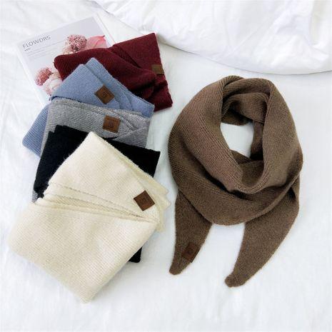 Grand foulard triangle en laine NHMN269307's discount tags