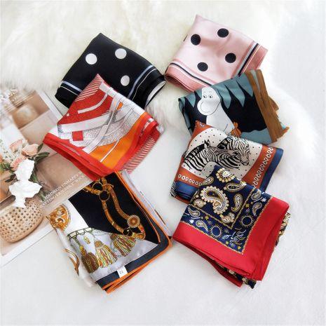 petit foulard carré coréen en soie de mûrier NHMN269309's discount tags