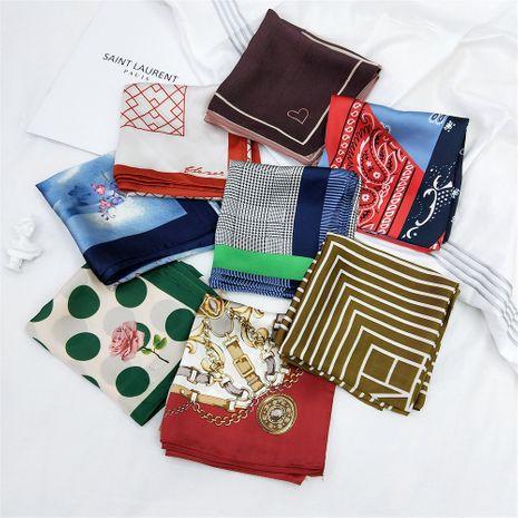 petit foulard carré à rayures NHMN269310's discount tags