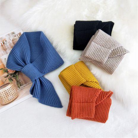 Écharpe à petit col en laine à tricoter de couleur pure NHMN269312's discount tags