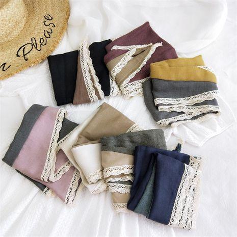 Petite écharpe en soie et coton et lin assortis diamant NHMN269316's discount tags