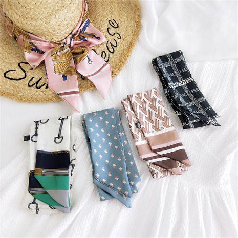 Nouveau long petit foulard en soie NHMN269321's discount tags
