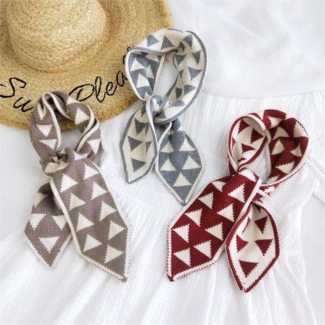 Petit foulard en laine tricoté triangle NHMN269323's discount tags