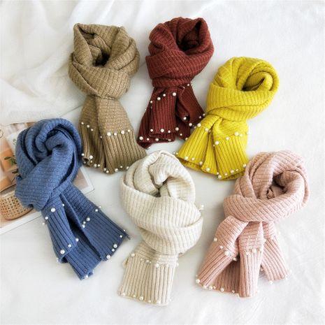 Écharpe en laine tricotée à deux rangées de perles NHMN269326's discount tags