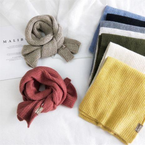 Écharpe tricotée de couleur unie pour femmes hiver nouvelle écharpe épaissie châle bavoir chaud à double usage NHMN269330's discount tags