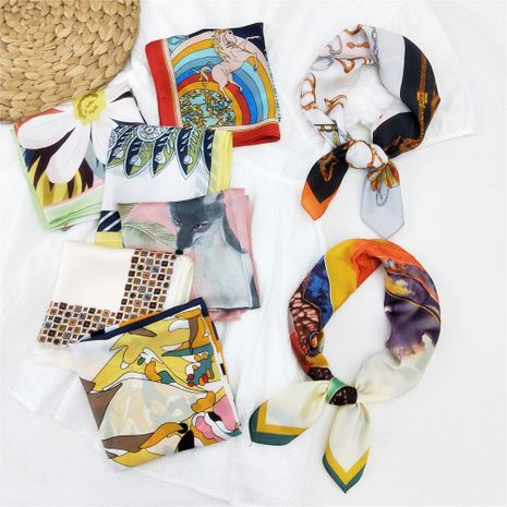 70 petite écharpe carrée foulard en soie femmes foulard d'été cou protecteur de cou coréen mince NHMN269337's discount tags