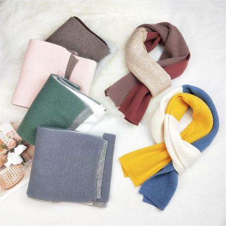 écharpe en laine tricotée pour femme automne longue écharpe chaude coréenne NHMN269338's discount tags