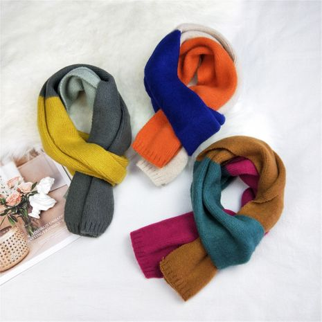 new long knitted wool scarf women autumn Korean small warm scarf NHMN269339's discount tags