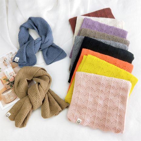Écharpe courte tricotée à double usage de couleur pure femmes automne étudiants de la mode coréenne écharpe chaude NHMN269342's discount tags