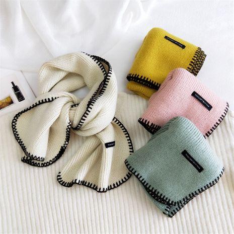 nouvelle écharpe en laine tricotée enveloppée à la main NHMN269351's discount tags
