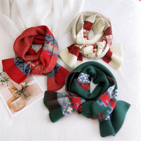 Écharpe fauve petit treillis cadeau de Noël NHMN269353's discount tags