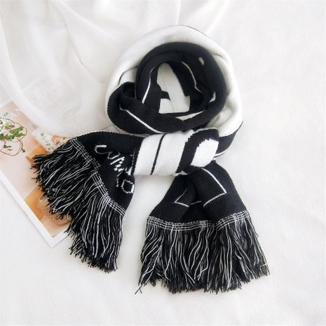 Foulard double usage double face Letter NHMN269356's discount tags