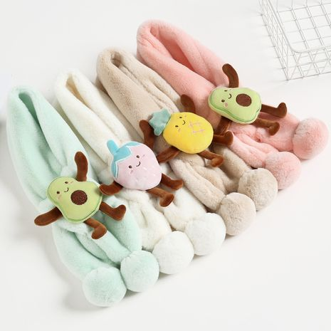 Children's scarf plush padded girl rabbit fur warm scarf  NHCM269360's discount tags