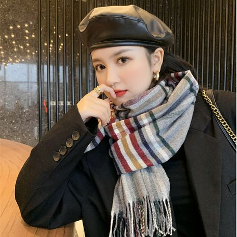 new  cashmere color grid all-match thickening  warm shawl scarf NHCM269372's discount tags