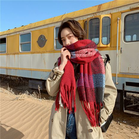 Korean  wild  thickening warm long shawl scarf NHCM269378's discount tags