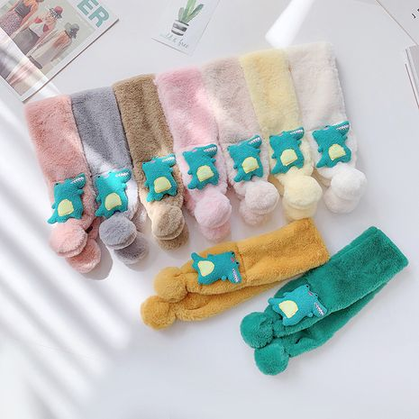 Thickened furry  all-match cartoon calf scarf NHCM269385's discount tags