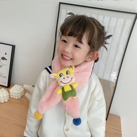 Children's  thicker furry  all-match cartoon calf scarf NHCM269388's discount tags