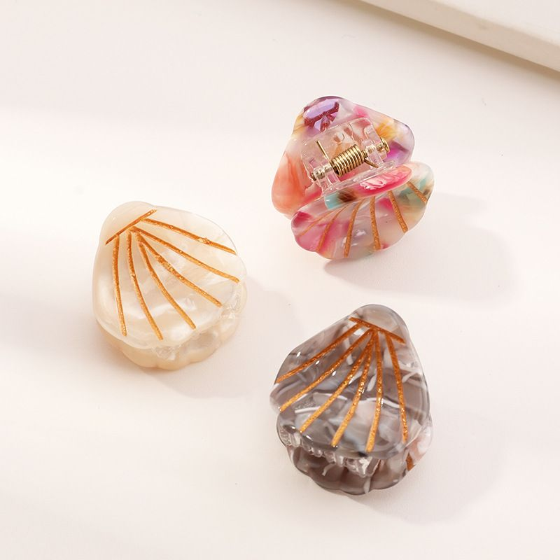 hot-selling acetate beach shell simple fashion large drawing gold line hairpin NHAU269427
