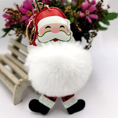Père Noël bonhomme de neige boule de fourrure porte-clés imitation rex lapin fourrure dames sac pendentif ornements de voiture NHDI269449's discount tags