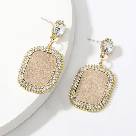 autumn and winter hot selling alloy diamond-studded acrylic artificial leather earrings  NHJE269453's discount tags